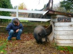 We made new friends on our fall road trip, -Oprah from the Cowichan Valley